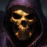 Skeletor coincé chez lui